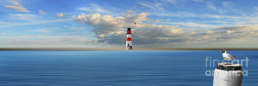 The lonely lighthouse by Monika Juengling