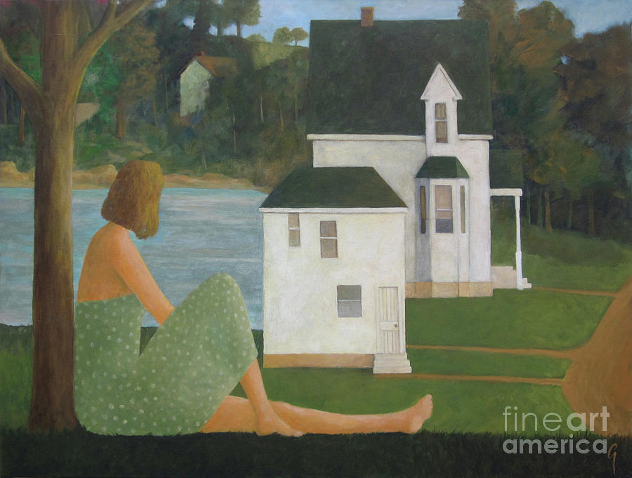 Lake Painting - The Lonely Side Of The Lake by Glenn Quist