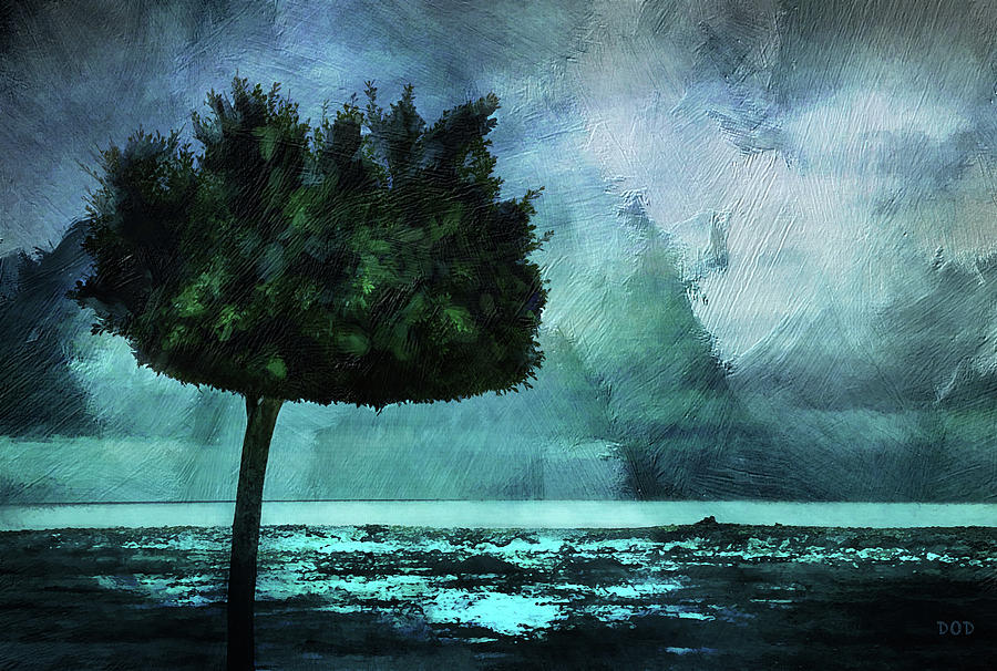Alicante Digital Art - The Lonely Tree by Declan ODoherty