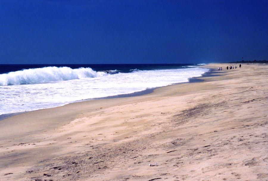 Pacific Ocean Photograph - The Long Beach 2  by Lyle Crump