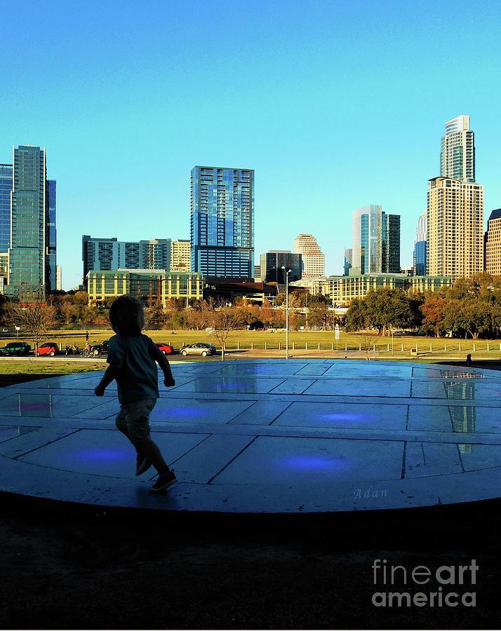 The Long Center Photograph - The Long Center - Austin Skyline From City Terrace Vertical by Felipe Adan Lerma