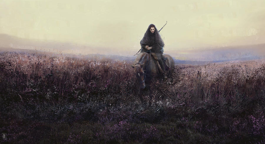 Warrioress Painting - The Long Ride by Eve Ventrue