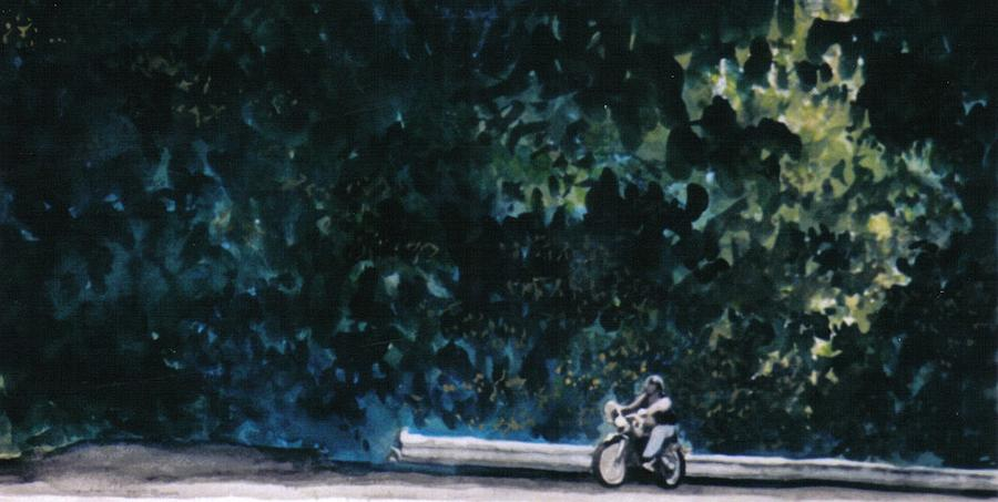 Watercolors Painting - the Long Ride by Saundra Lee York