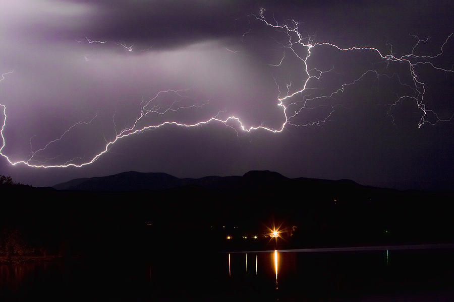 Lightening Photograph - The Long Strike by James BO  Insogna
