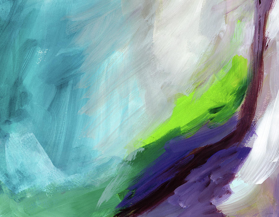 Abstract Painting - The Long Walk- Art By Linda Woods by Linda Woods