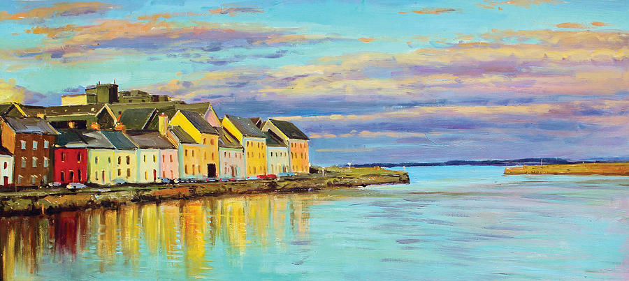 Galway Harbour Painting - The Long Walk Galway by Conor McGuire