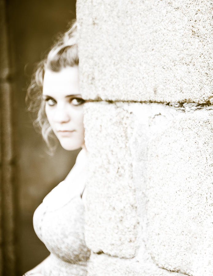 Loriental Photograph - The Look Behind The Pillar by Loriental Photography