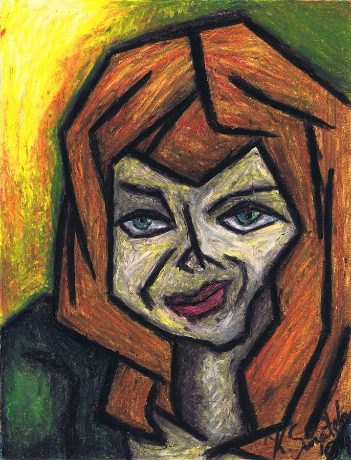 Portrait Painting - The Look by Kamil Swiatek