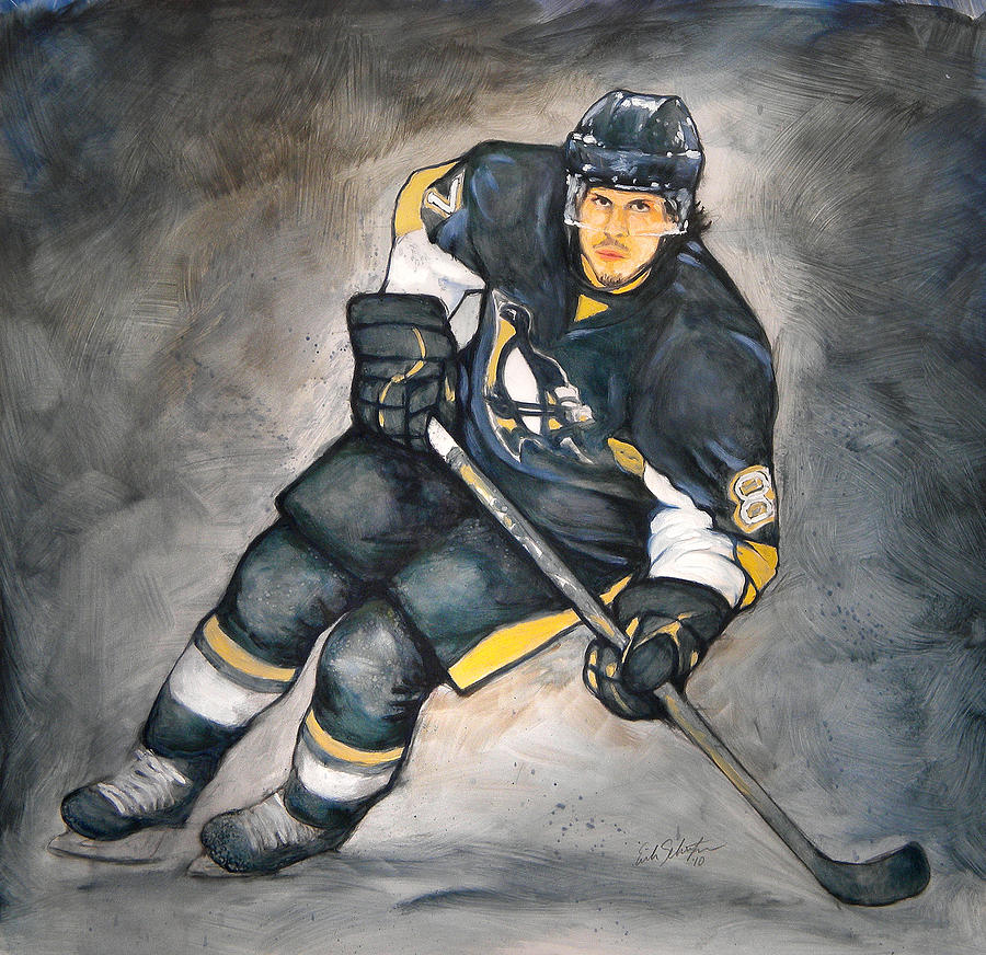 Oil Painting - The Look Of A Champion by Erik Schutzman