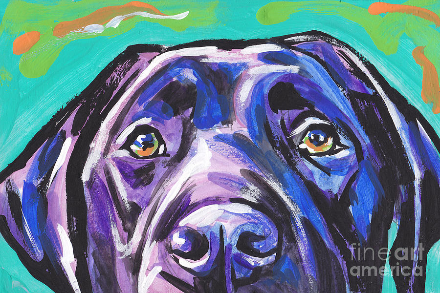 Labrador Retriever Painting - The Look of Lab by Lea S