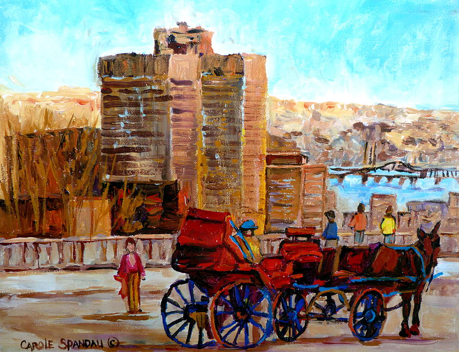 Montreal Street Scene Painting - The Lookout On Mount Royal Montreal by Carole Spandau