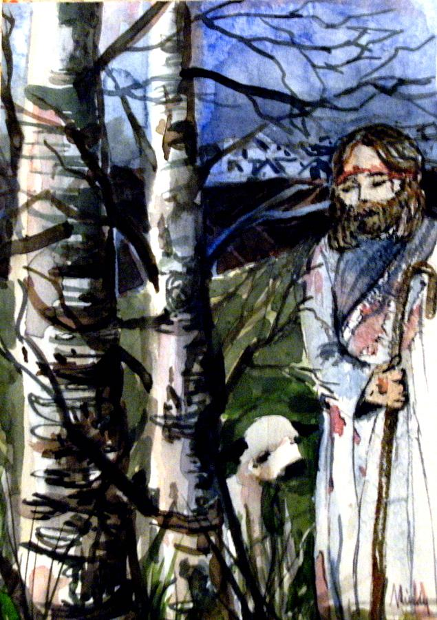 Lord Painting - The Lord Is My Shephard by Mindy Newman