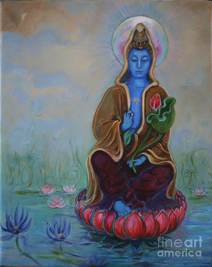 Buddha Painting - The Lotus Seed by Catherine Moore