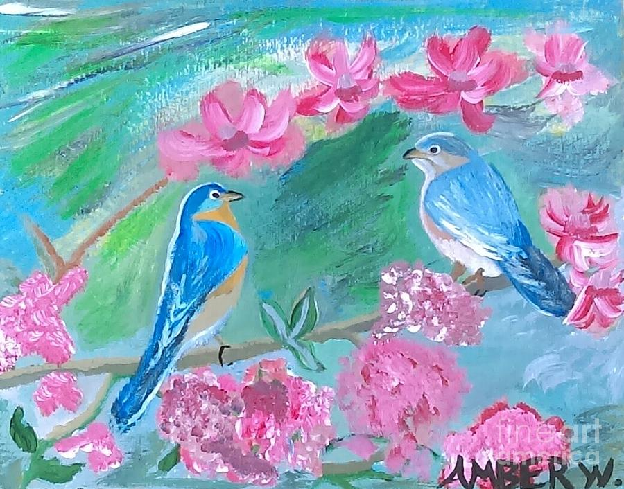 The Love Birds Painting