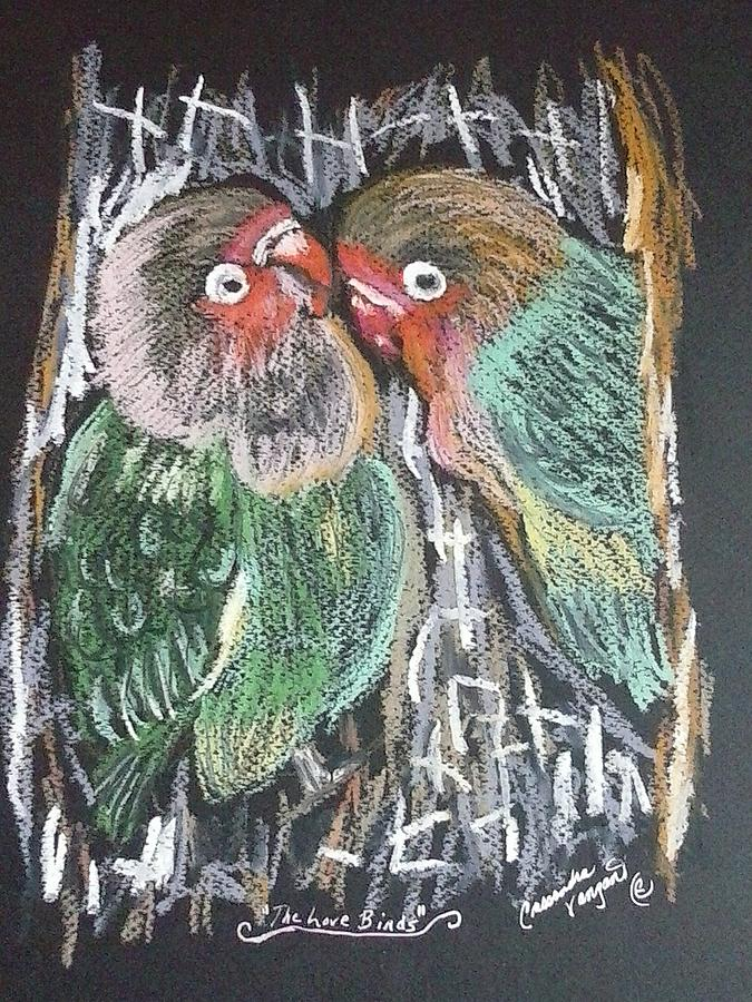 Birds Painting - The Love Birds by Cassandra Vanzant