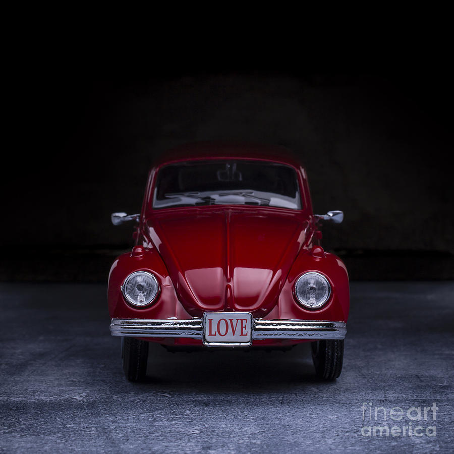 Car Photograph - The Love Bug Square by Edward Fielding