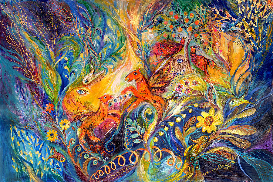 Original Painting - The Love Dance by Elena Kotliarker