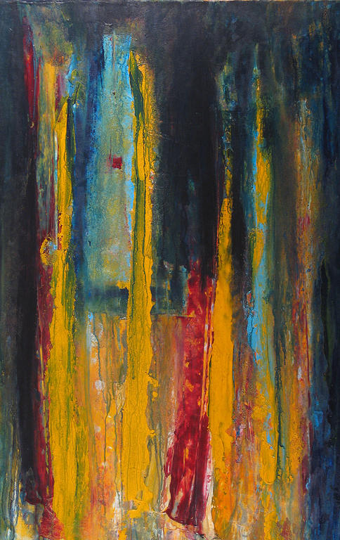Abstract Landscape Painting - The Love Songs Of Pascal Von Heinivin by Dana ORegan