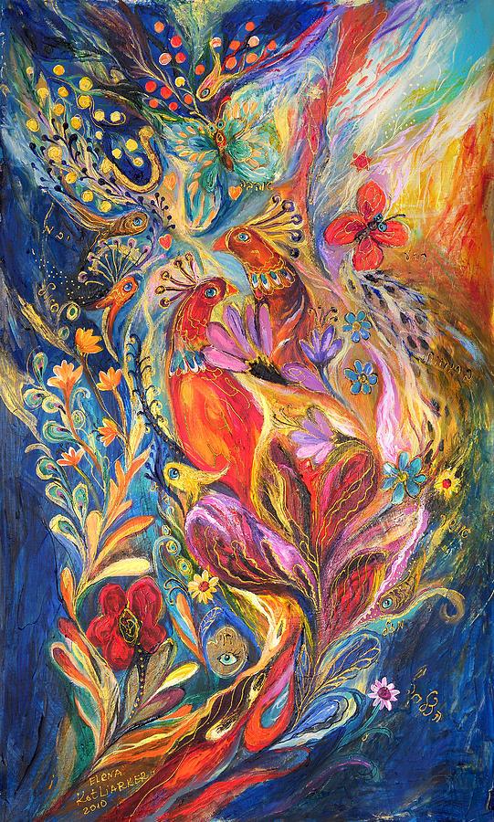 Original Painting - The Love Story II by Elena Kotliarker