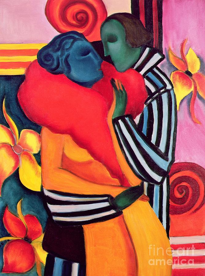 The Lovers Painting - The Lovers by Sabina Nedelcheva Williams