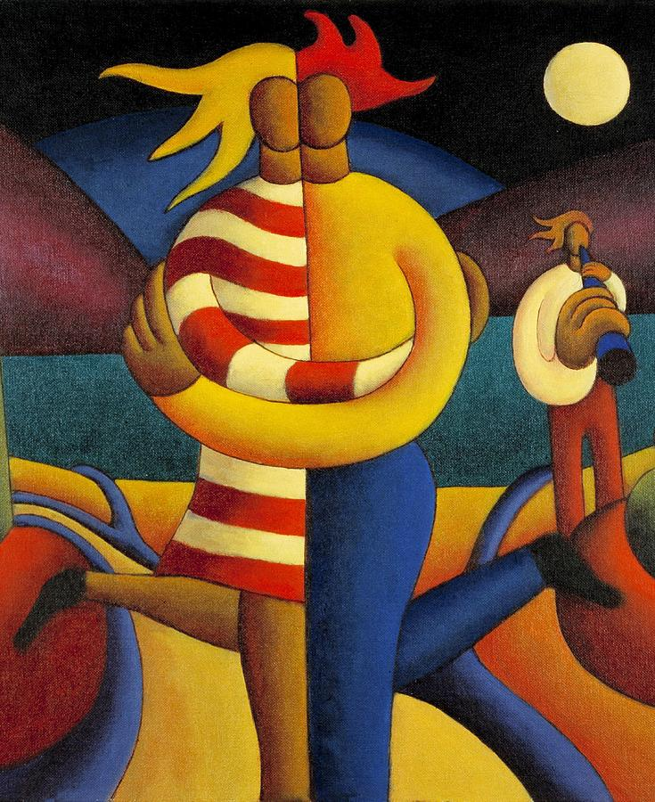 Lovers Painting - The Lovers Seranade by Alan Kenny