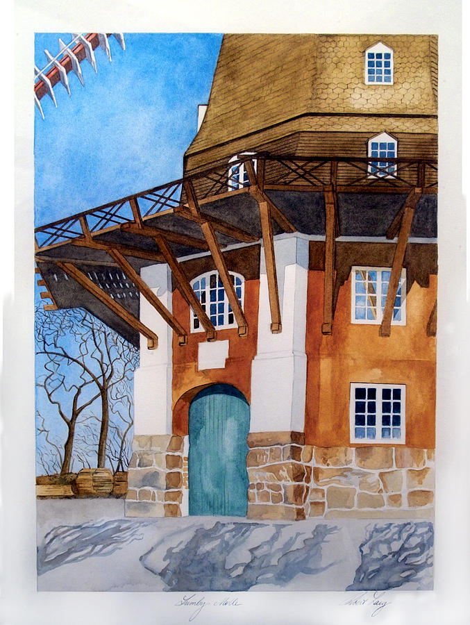 Windmill Painting - The Lumby Mill by Robert Lacy
