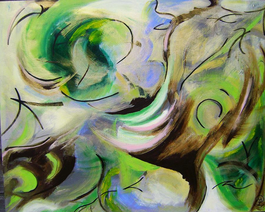 the Luminous Force of Nature Painting by Therese Legere