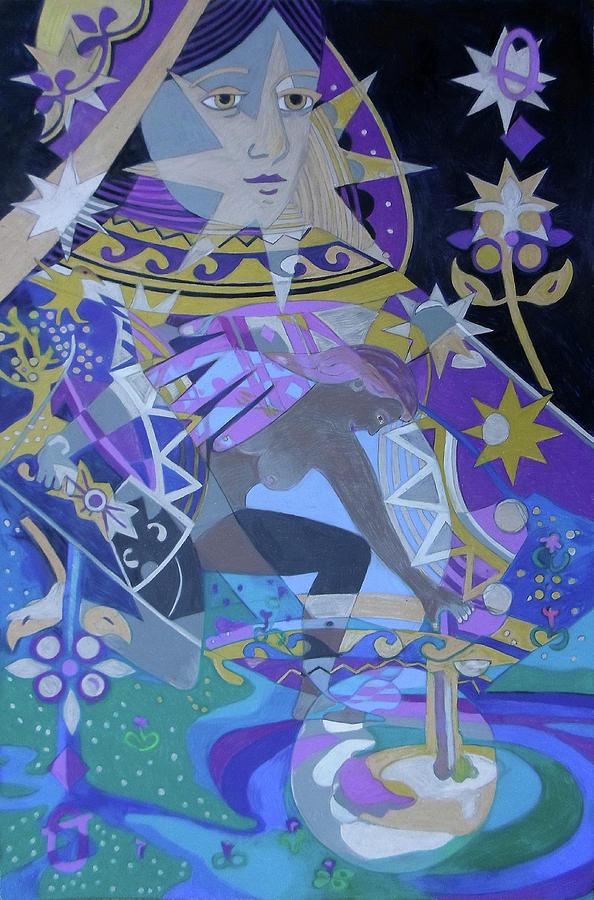 Queen Painting - The Lunar Queen by Denise Weaver Ross