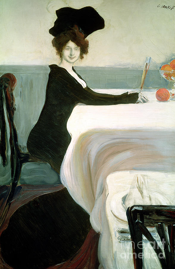 Bakst Painting - The Luncheon by Leon Bakst