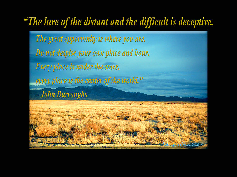 Arizona Photograph - The Lure of the Distant and the Difficult is Deceptive by Tamara Kulish