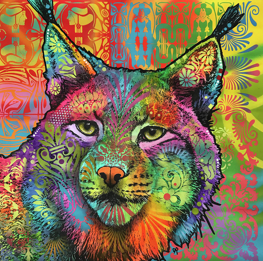 Lynx Painting - The Lynx by Dean Russo Art