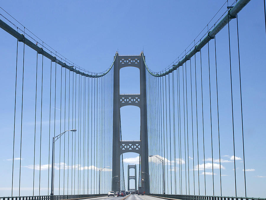 Mackinac Bridge Photograph - The Mackinac Bridge by Danielle Allard