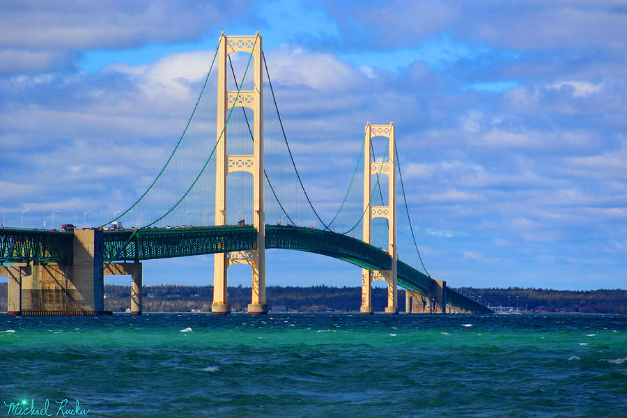 The Mackinac Bridge Photograph - The Mackinac Bridge by Michael Rucker