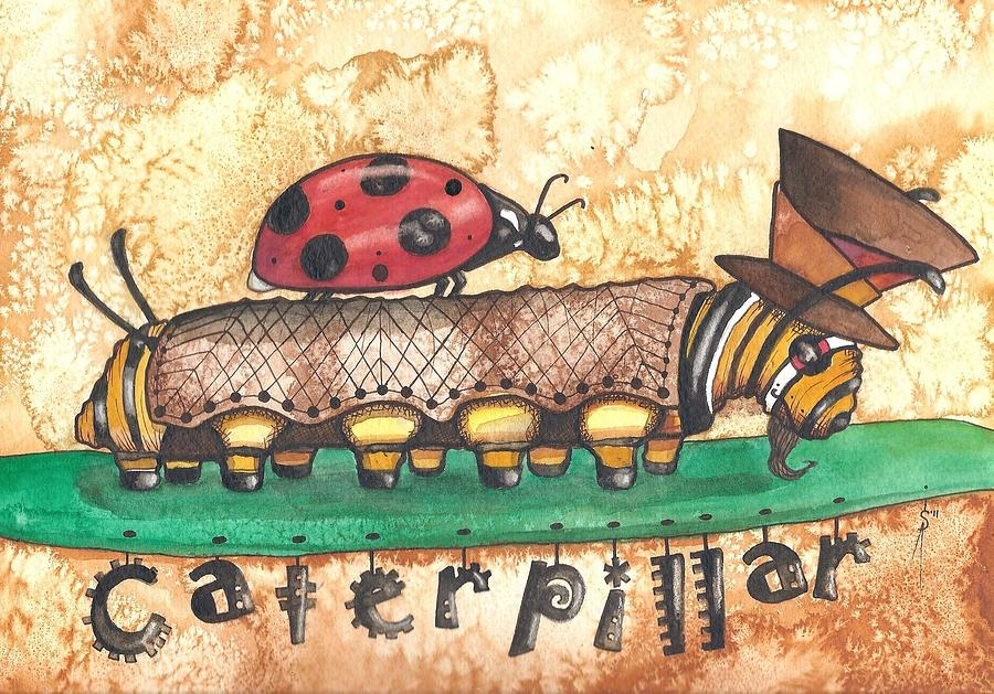 Watercolor Painting - The Mad Caterpillar by Sheri Athwal