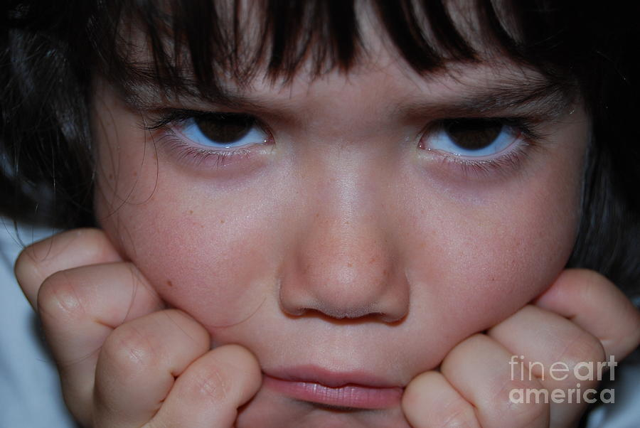 Boy Photograph - The Mad Face by Robyn Leakey