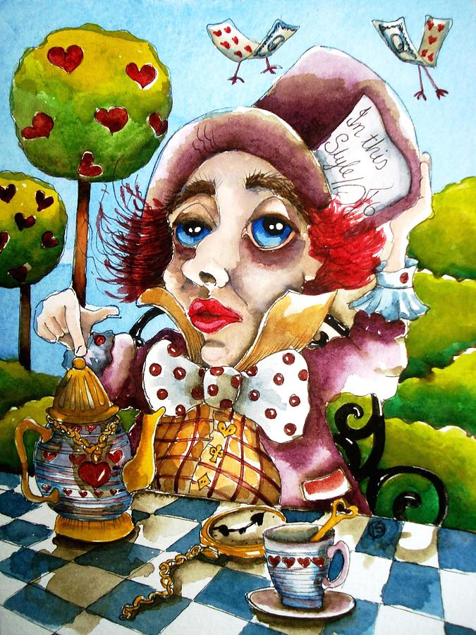 Mad Painting - The Mad Hatter by Lucia Stewart