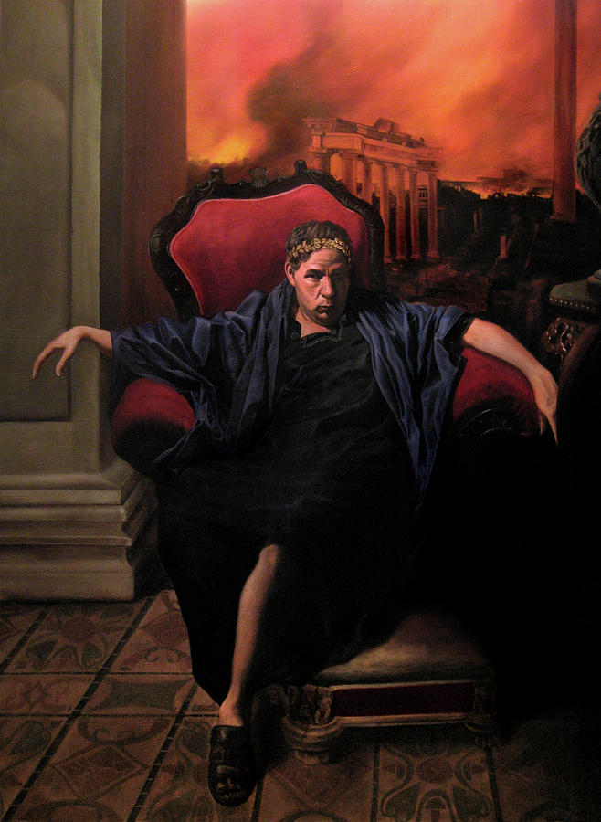 Classical Realism Painting - The Madness of Nero by Eric  Armusik