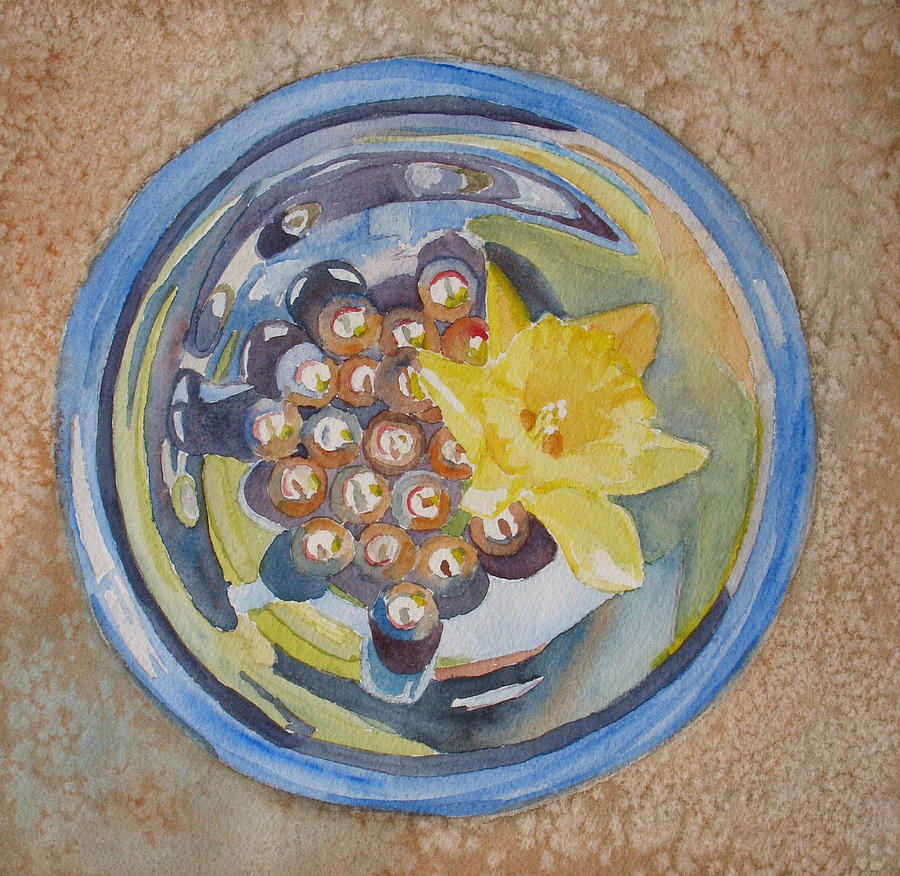 Daffodil Painting - The Magic Bowl II by Jenny Armitage