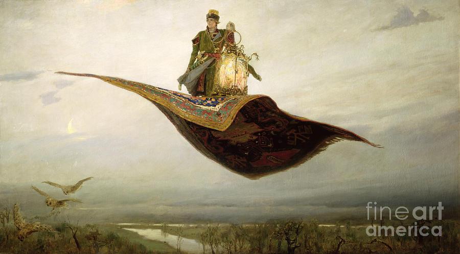 Magical Painting - The Magic Carpet by Apollinari Mikhailovich Vasnetsov