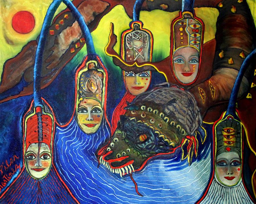Painting - The Magic Dragon by Pilar  Martinez-Byrne