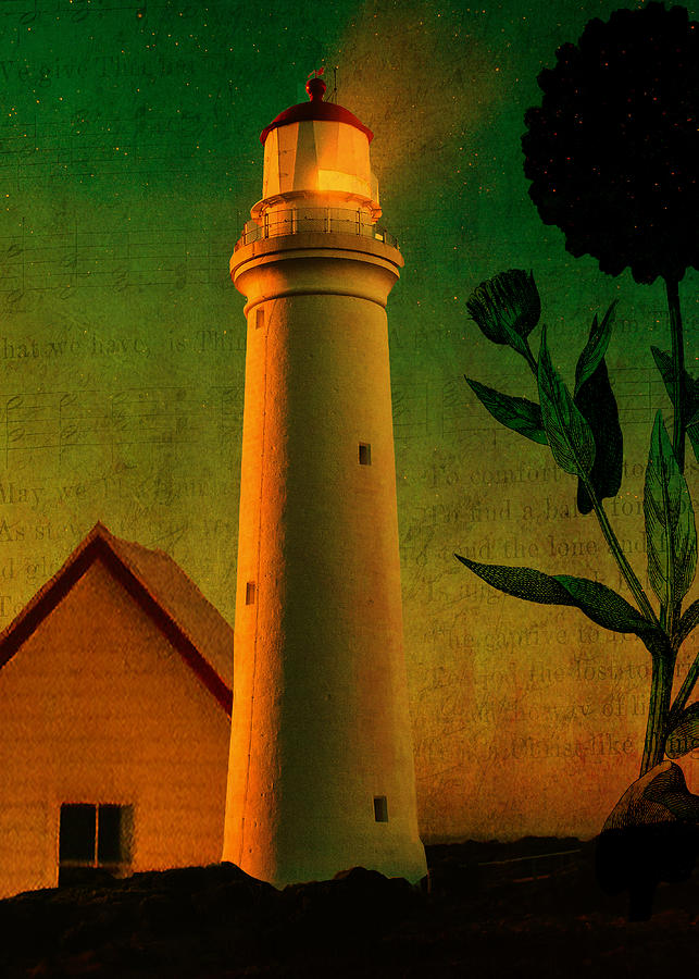 Lighthouse Digital Art - The Magic Lighthouse by Sarah Vernon