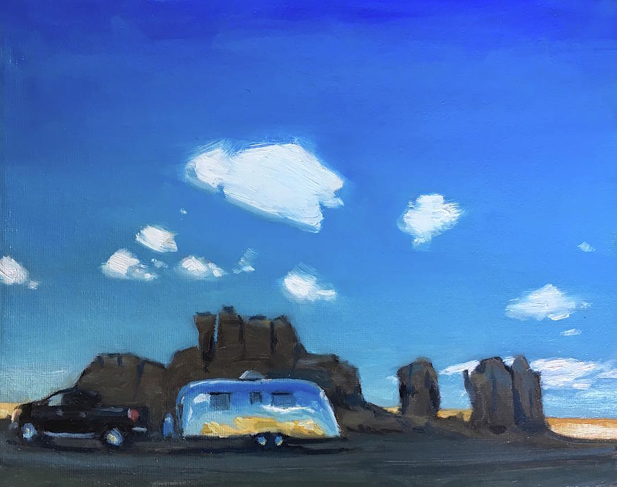 Airstream Painting - Feeling The Magic Of Acoma by Elizabeth Jose
