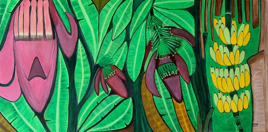 The Magic Of Banana Blossoms Painting