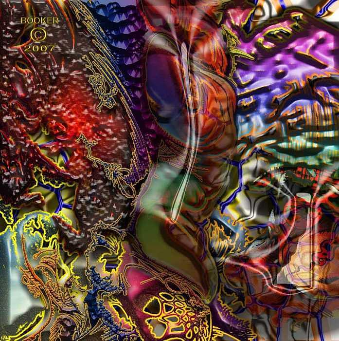Jazz Mixed Media - The Magic Of Op by Booker Williams