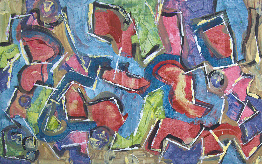 Abstract Painting - The Magic Show by Robert Dalton