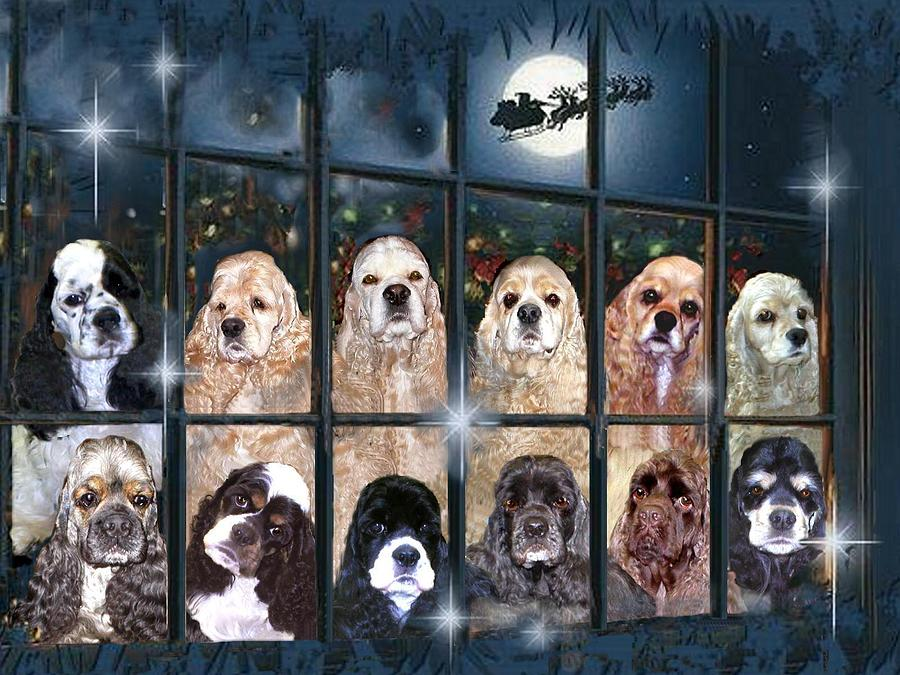 Cocker Spaniels Painting - The Magic Window by Sue Alandar