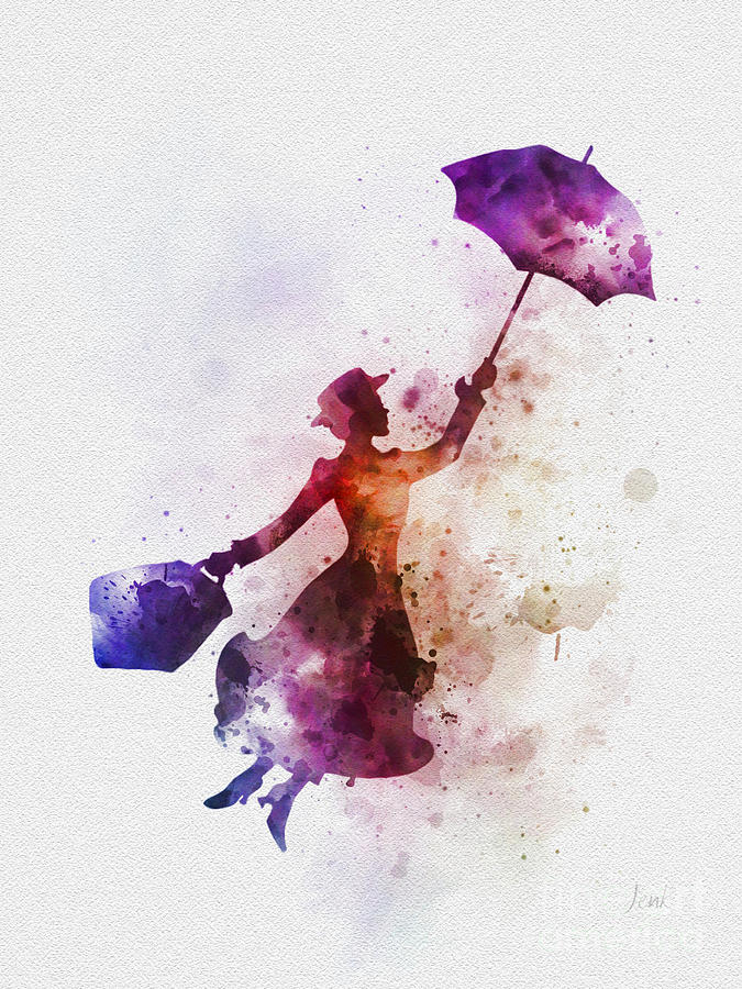 Mary Poppins Mixed Media - The Magical Nanny by My Inspiration