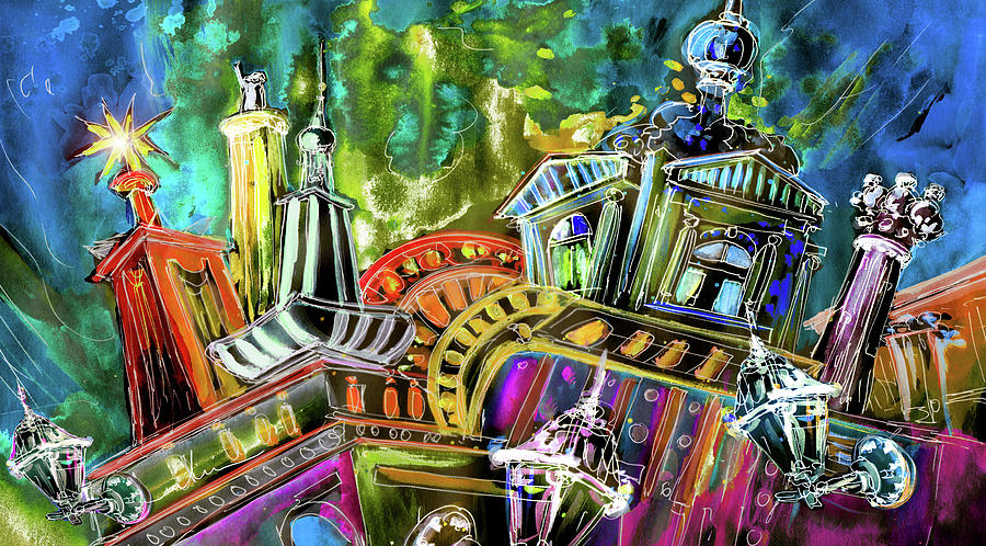 Czech Republic Painting - The Magical Rooftops Of Prague 02 by Miki De Goodaboom