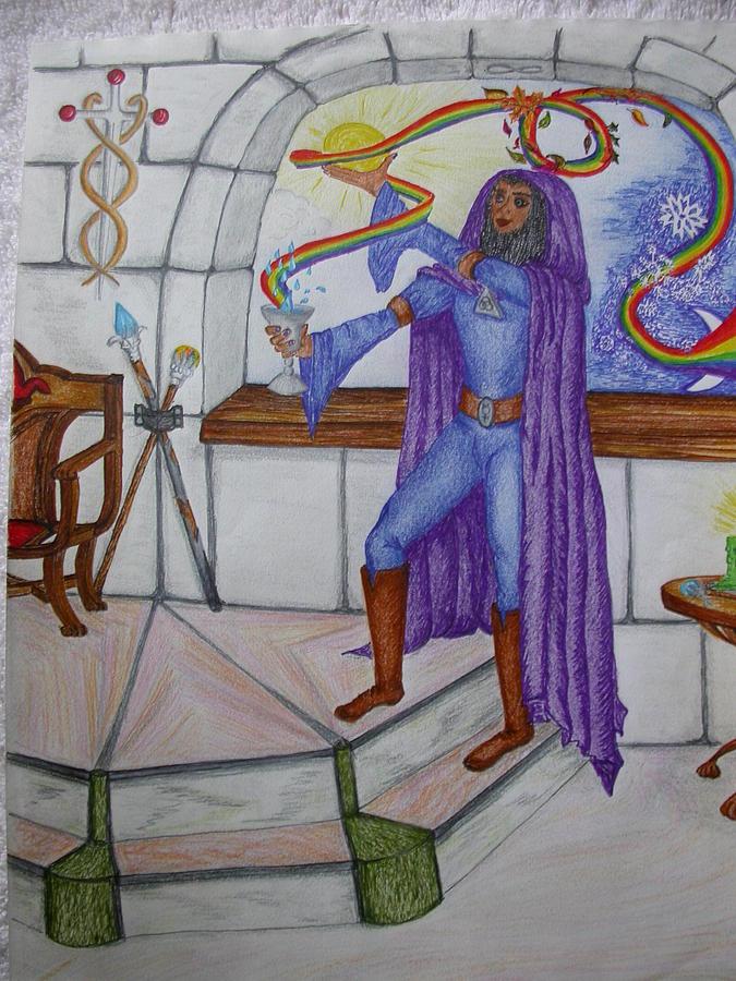 Magician Mixed Media - The Magician by Carol Frances Arthur