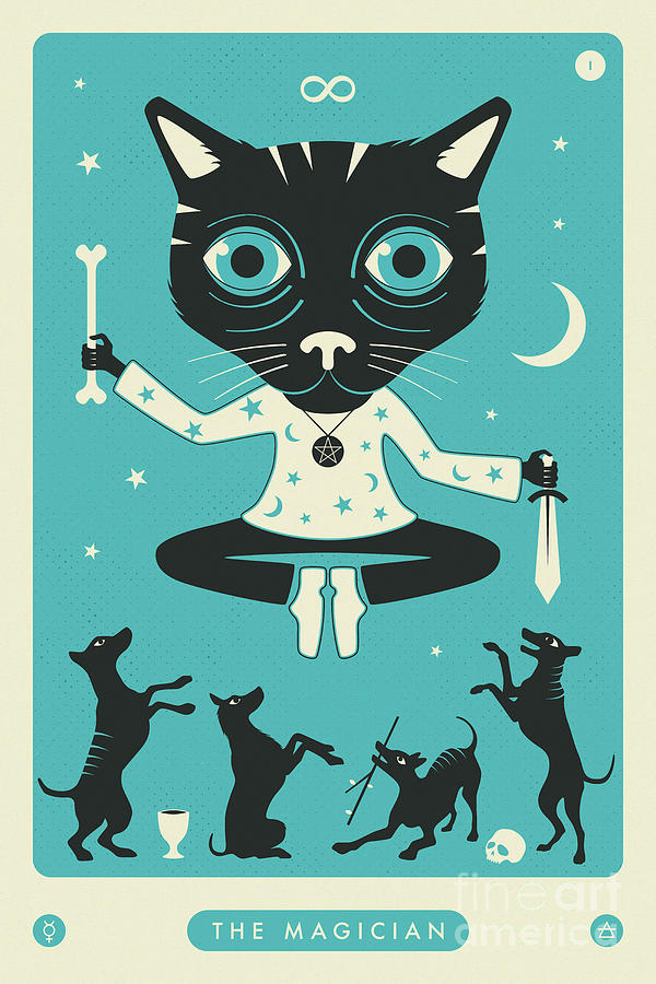 The Magician Tarot Card Cat by Jazzberry Blue